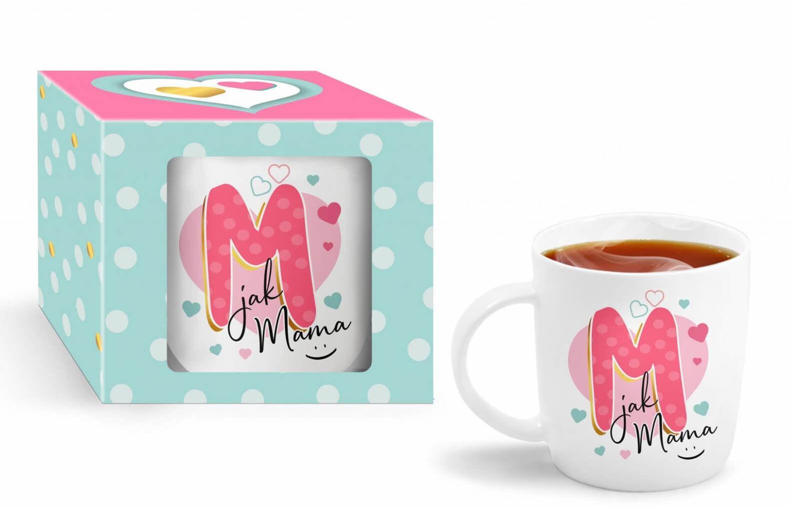 Kubek ceramiczny z napisem M jak Mama
