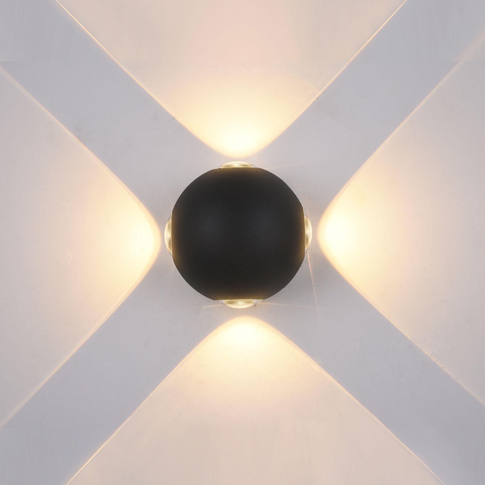Italux kinkiet lampa ścienna Trivento PL-307B IP54 czarna LED 4W 3000K 10cm