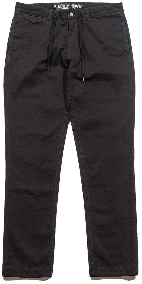 spodnie GRIZZLY - grizzly refuge chinos black (BLK)
