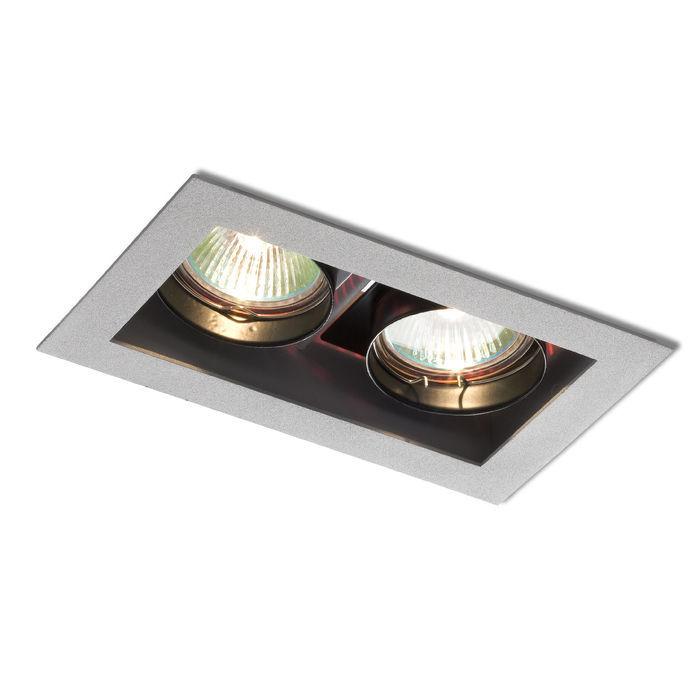Lampa do zabudowania K/G MONE II kierunkowa srebrna 12V GU5,3 2x50W R10217 - RedLux - Autoryzowany dystrybutor REDLUX