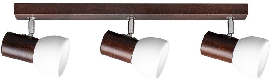 Spot Light 2224376 Svenda listwa oświetleniowa orzech klosz metal biały 3xE27 60W IP20 52cm