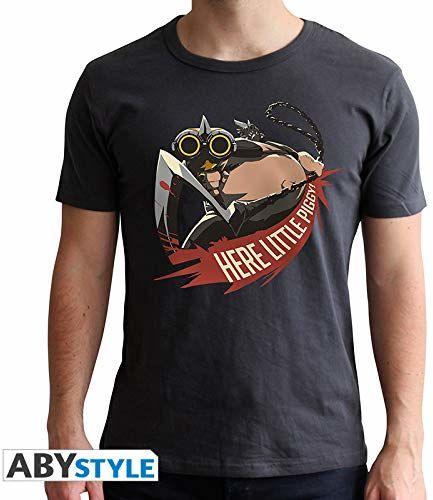 """ABYstyle - OVERWATCH - T-shirt -""""chopper"""" - mężczyźni - czarny (S)"""