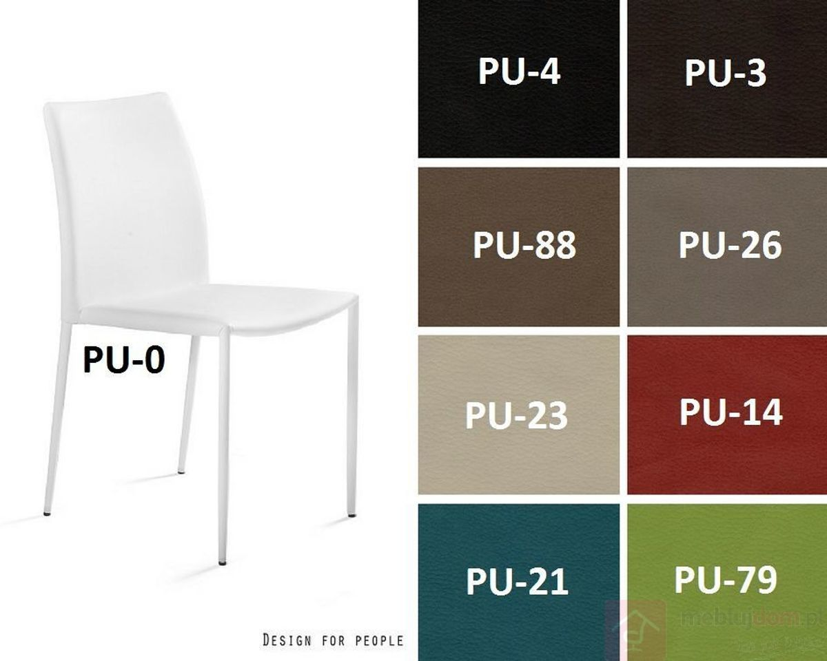 Krzesło DESIGN Ekoskóra Cappuccino, Ekoskóra  Zapytaj o RABAT!