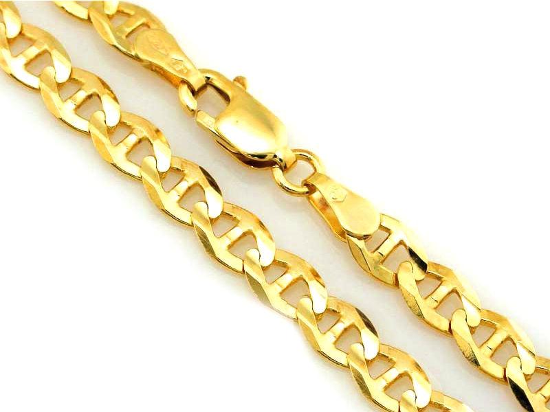 Złoty łańcuszek 333 splot gucci marina 50cm