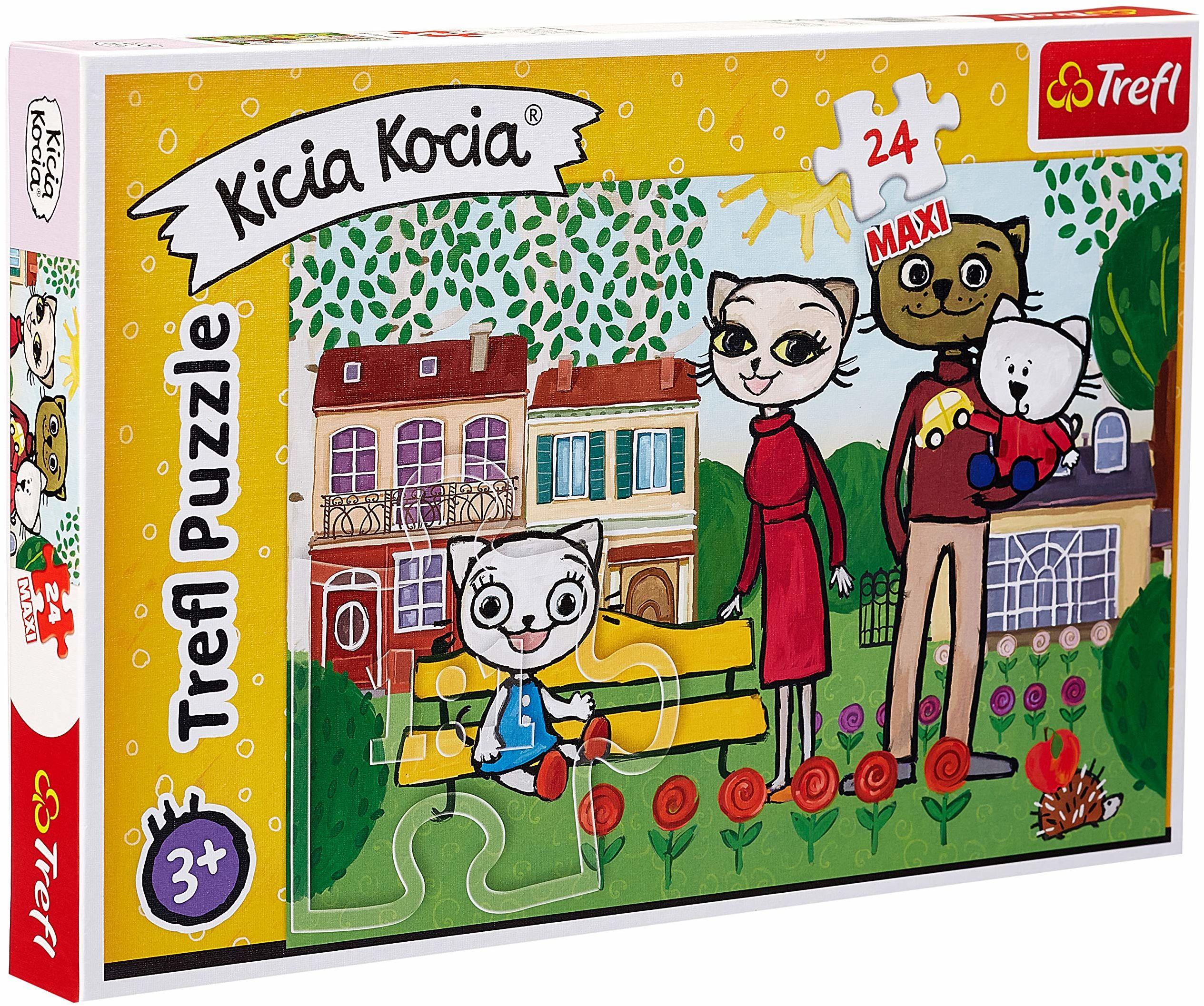 Trefl Zabawy Kici Koci Puzzle 24 Maxi Disney o Wysokiej Jakości Nadruku dla Dzieci od 3 lat