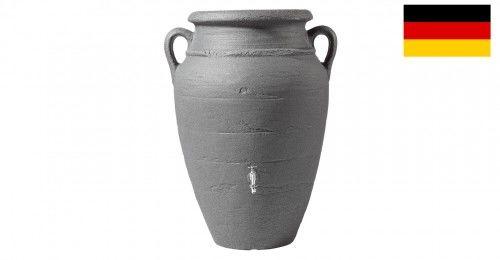 Stylowy zbiornik na deszczówkę poj. 360 L Antique amphora ciemny granit