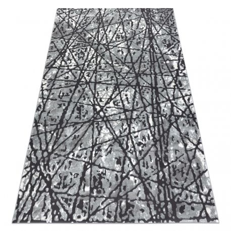Dywan ZARA 0W7053 P50 140 - Strukturalny, dwa poziomy runa szary 80x150 cm