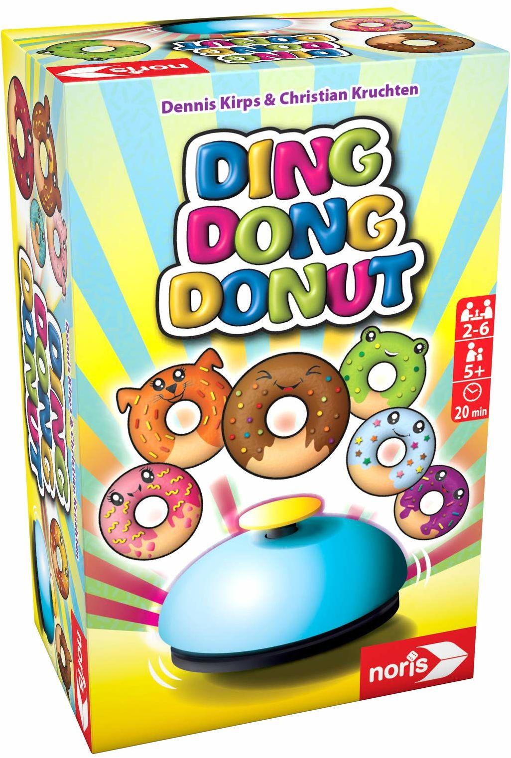 Noris 606061904 Ding Donut Donut  Auf die Donut  gotowe  w drogę! Szybka gra karciana, od 5 lat
