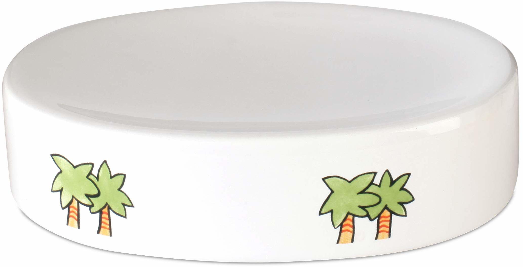 AWD mydelniczka dla dzieci, biała, ceramika z kolorowym motywem AFRIKA - Afryka akcesoria łazienkowe seria - AWD Interior