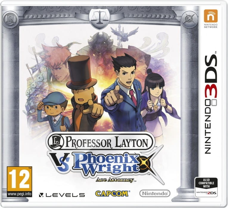 Gra Professor Layton vs Phoenix Wright (3DS)