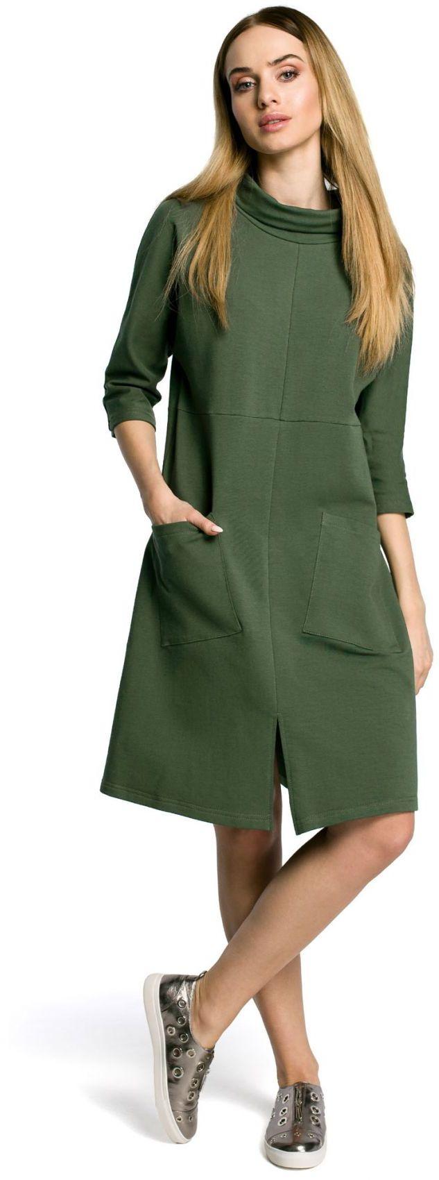 M353 Sukienka khaki