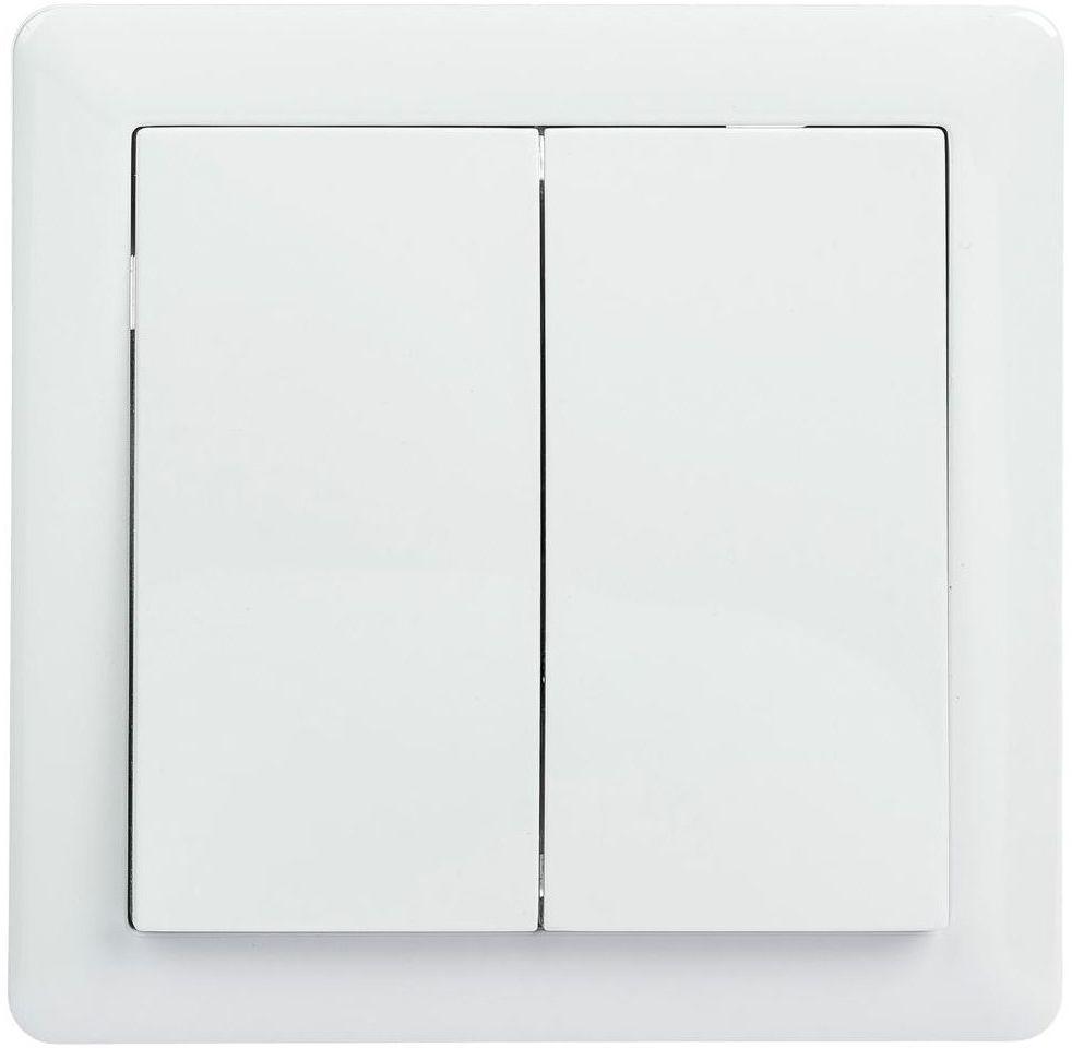 Włącznik schodowy podwójny SLIM Biały LEXMAN