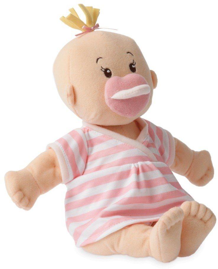 Pluszowa lalka dla dzieci, Blondynka niemowlak w sukience w paski, Baby Stella, 152420-Manhattan Toy, lalki dla dziewczynek
