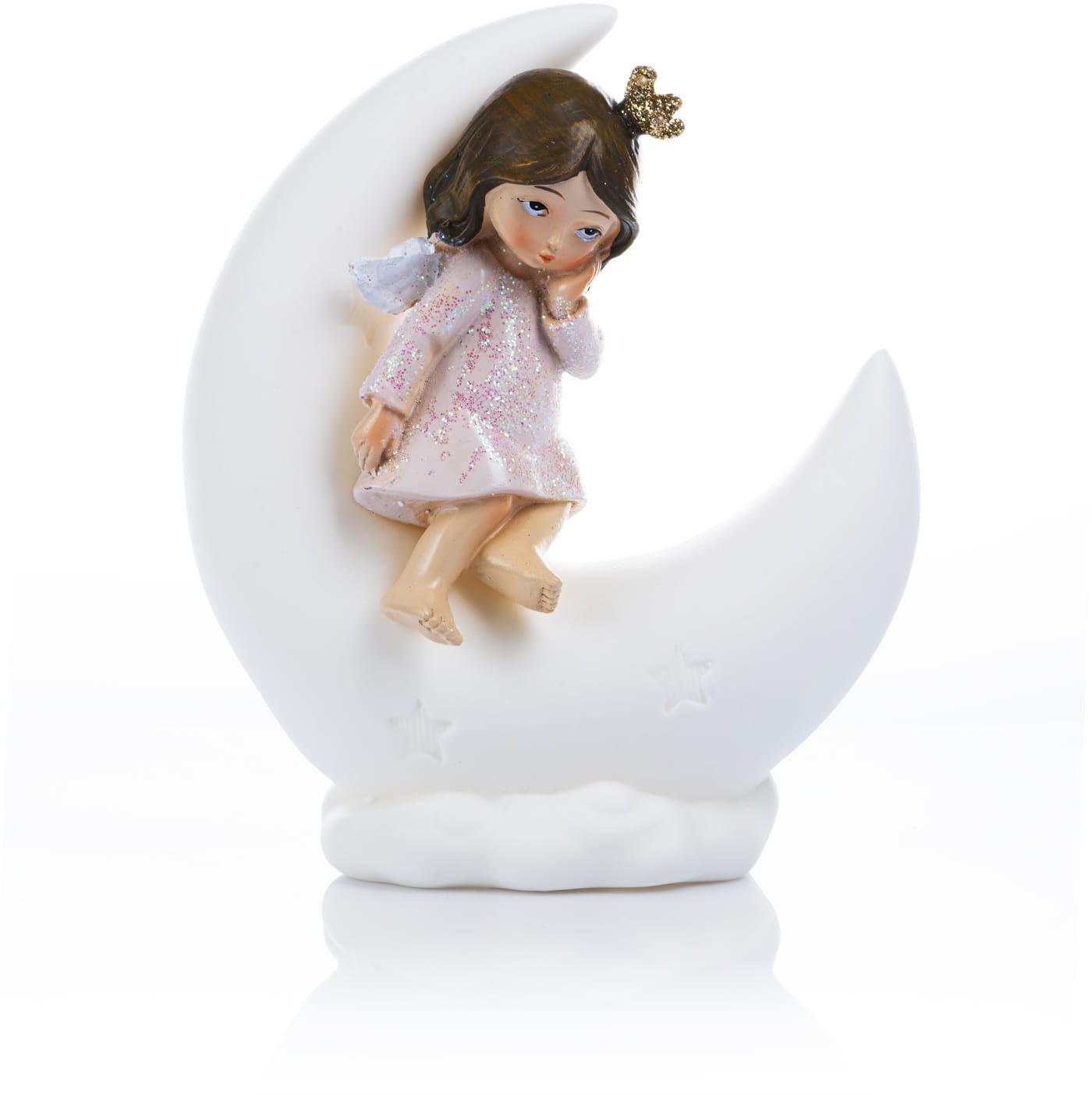 Figurka aniołka na księżycu 18 cm