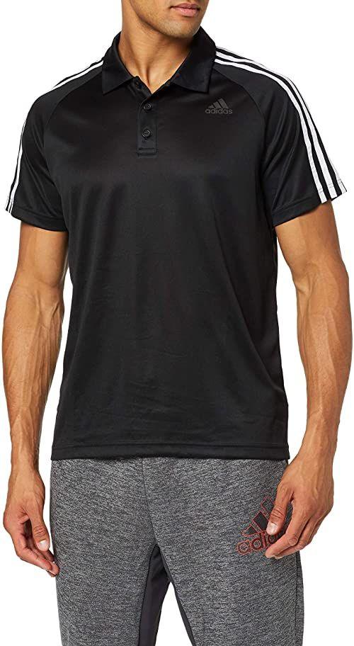adidas D2 M 3S męska koszulka polo tenisa, męska, BP9111, czarno-biała, XS