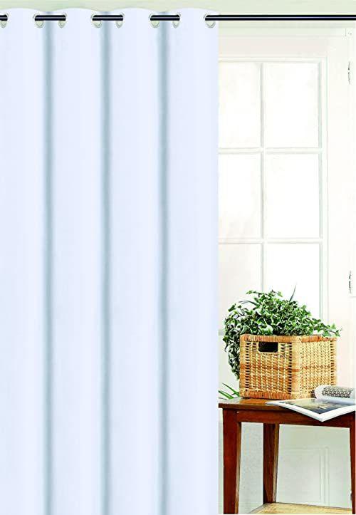 HomeMaison Zasłona z płótna żaglowego, poliester, biała, 180 x 135 cm