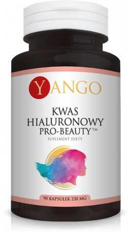 Niskocząsteczkowy Kwas Hialuronowy Pro-Beauty  YANGO 260mg - 90 kapsułek