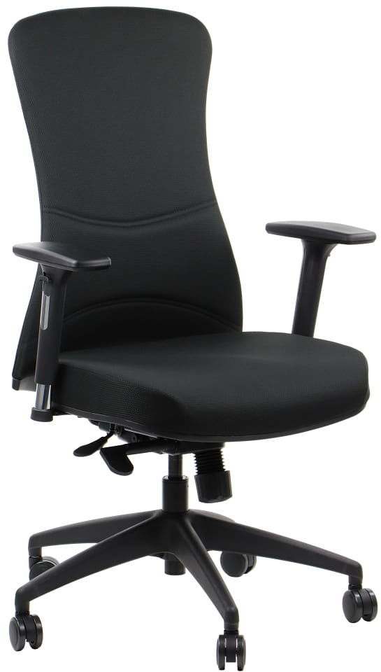 Fotel biurowy gabinetowy KENTON - krzesło biurowe obrotowe w kolorze czarnym