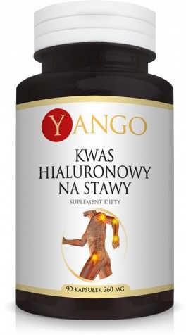 Niskocząsteczkowy Kwas Hialuronowy na Stawy YANGO 260mg x 90 kapsułek