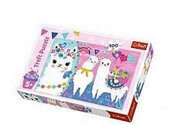 Puzzle TREFL 100 - Wesołe Lamy, Happy llamas