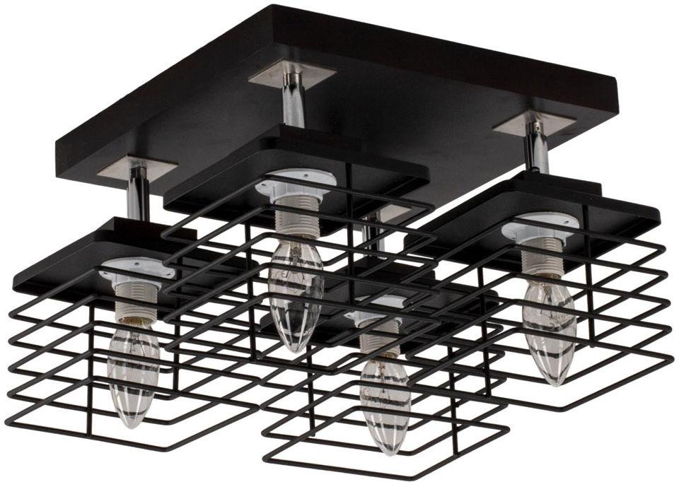 Kwadratowa druciana lampa sufitowa - EXX139-Etnos