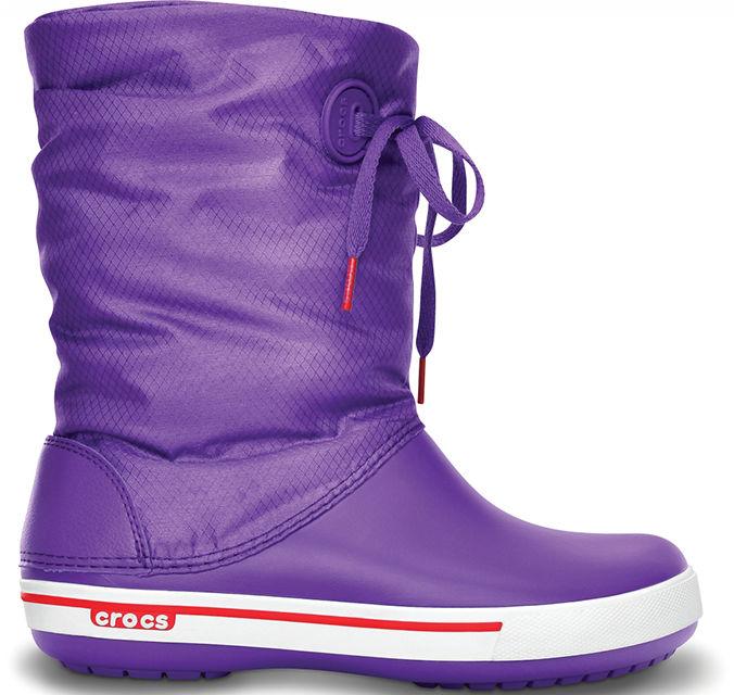 Śniegowce damskie CROCS Crocband II Lace Boot fioletowe1454558S
