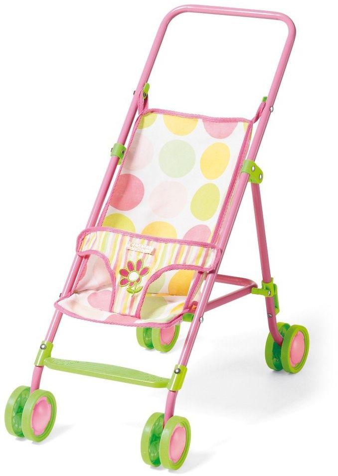 Kolorowy wózek spacerowy dla lalki, Baby Stella, 117440-Manhattan Toy, akcesoria dla lalek