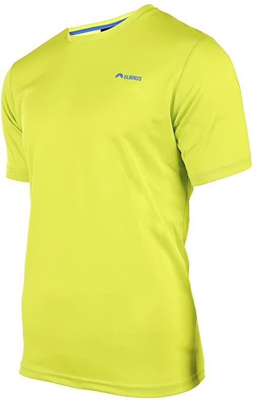 ELBRUS męski GLODI T-shirt, Acid Lime/Cloisonne, XXL