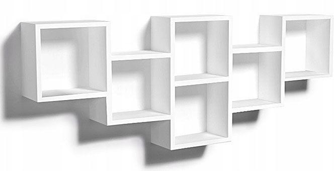 Biała nowoczesna półka ścienna - Amela