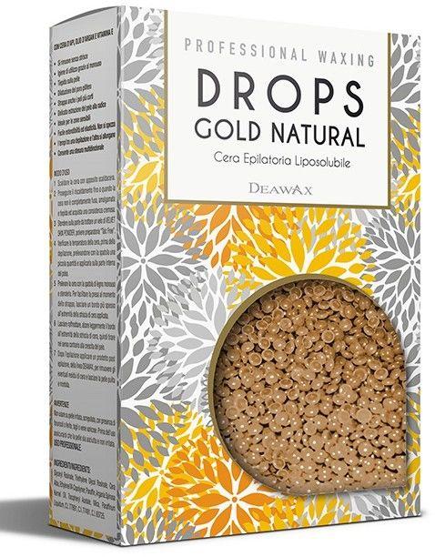 Wosk Do Depilacji Twardy Drops Gold Natural, 800g