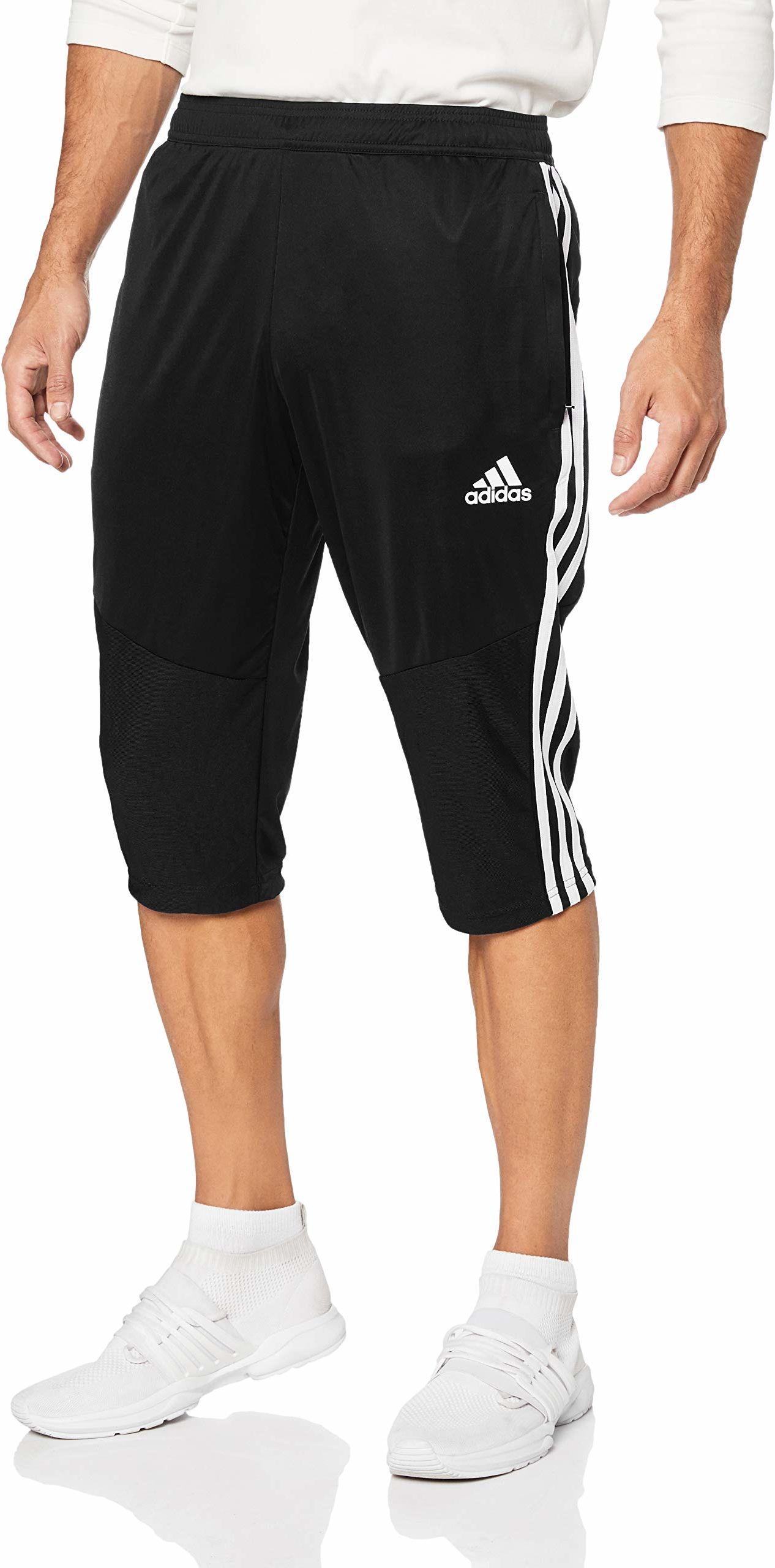 adidas Męskie spodnie sportowe Tiro19 3/4 PNT czarny/biały XS