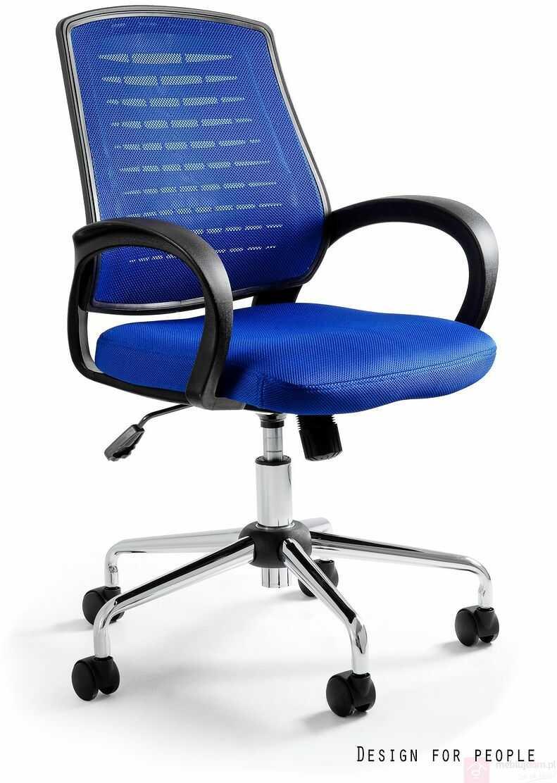 Fotel AWARD Unique Czarno-niebieski  Zapytaj o RABAT!