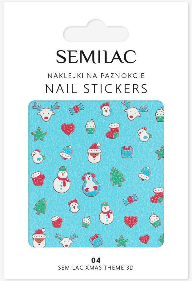 Semilac 04 Xmas Theme 3D Nails Stickers