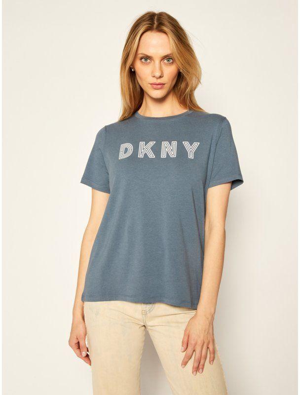 DKNY Sport T-Shirt DP0T7440 Granatowy Regular Fit
