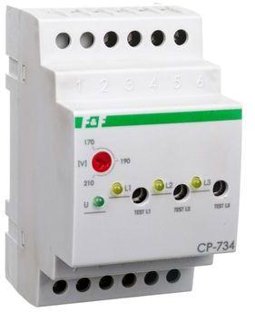 Przekaźnik kontroli napięcia 3-fazowy 3x(50-450V)+N 3Z 8A 170-210V AC CP-734