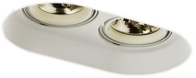 Lampa do zabudowania K/G DINGO II FRAMELESS gipsowa kierunkowa 12V G53 2x50W R10270 - RedLux - Autoryzowany dystrybutor REDLUX