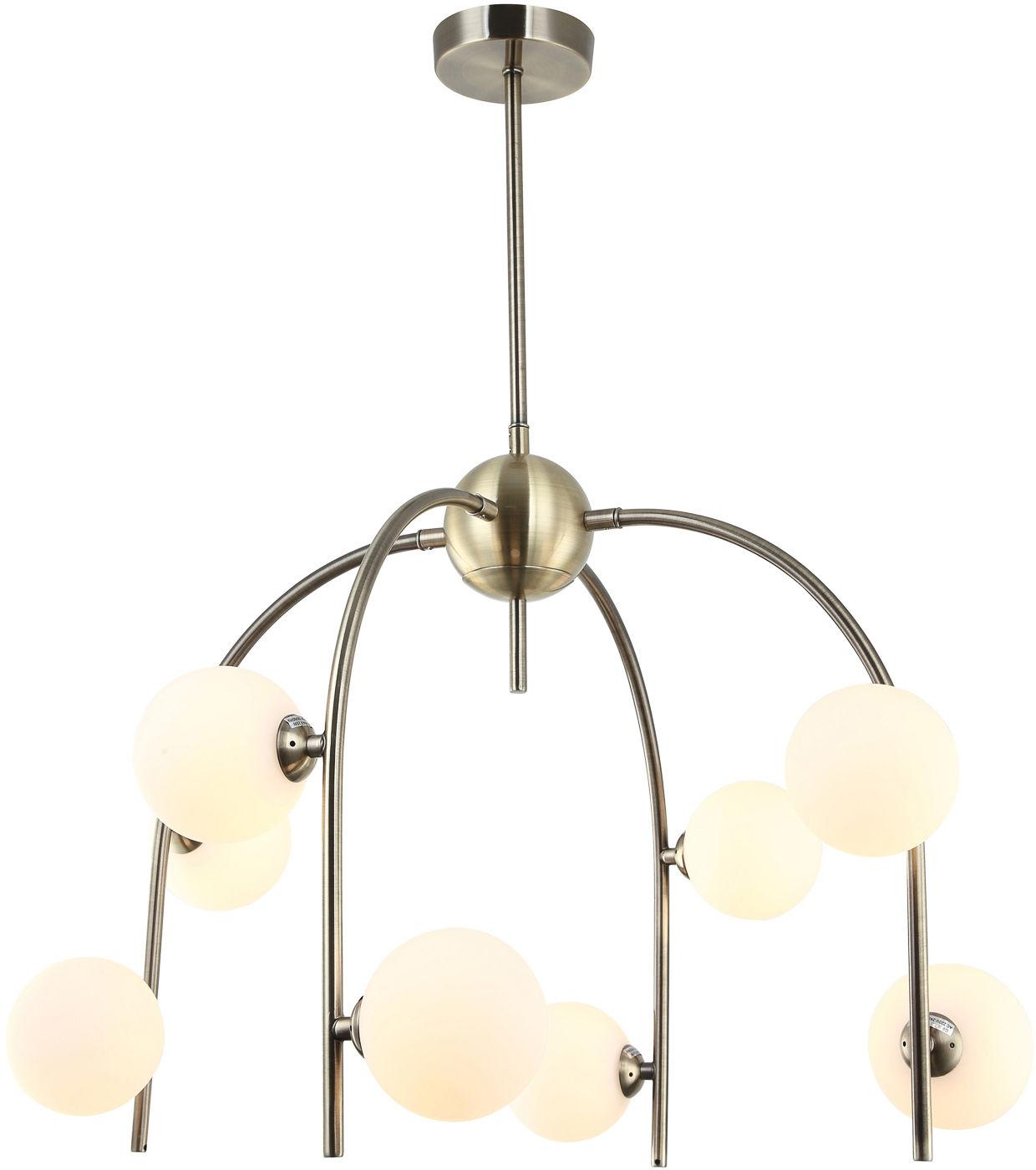 Italux lampa wisząca Celine MDM-3800/8 AB+W antyczny brąz szklane klosze 56cm
