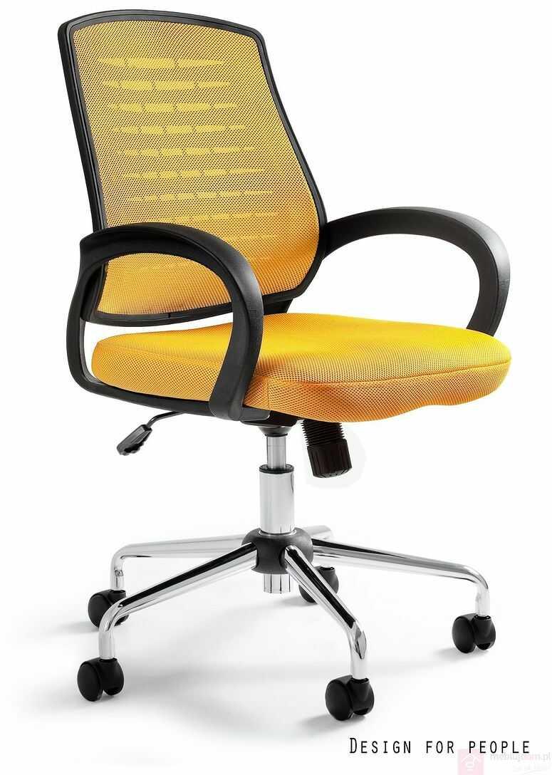Fotel AWARD Unique Czarno-żółty  RABAT na stronie!