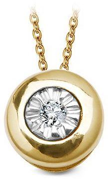Złoty wisiorek WZD5722 - Diament