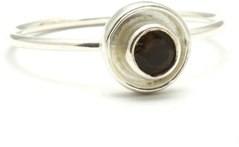 Kuźnia Srebra - Pierścionek srebrny, rozm. 13, Kwarc Dymny, 1g, model