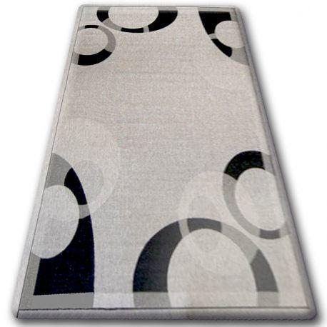 DYWAN SZNURKOWY SIZAL FLOORLUX 20078 srebrny / czarny 60x110 cm