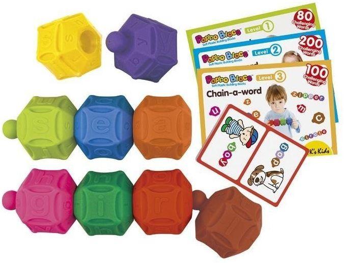 Klocki popboblocs - Literki dla dzieci, KA10672-K''s Kids, zabawki dla najmłodszych