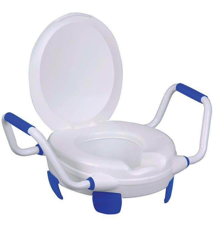 Nakładka na WC z uchwytami i pokrywą Clipper V