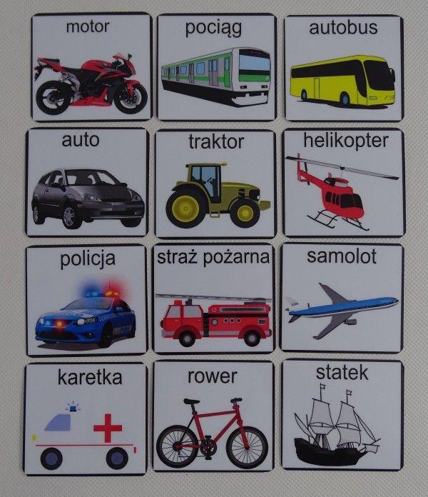 Pojazdy - piktogramy