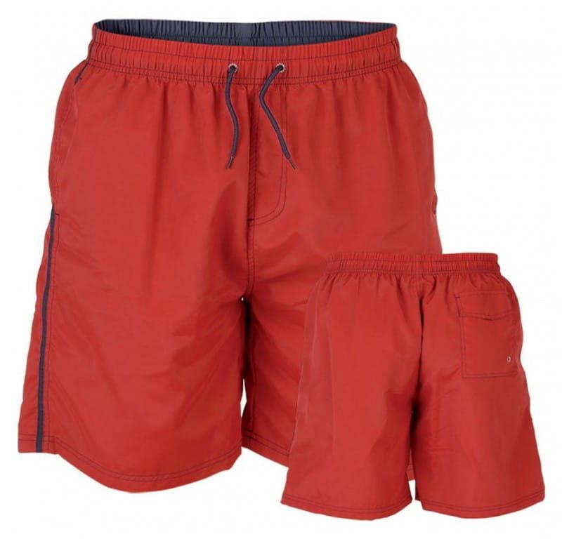 YARROW-D555 Duże Szorty Kąpielowe Czerwone