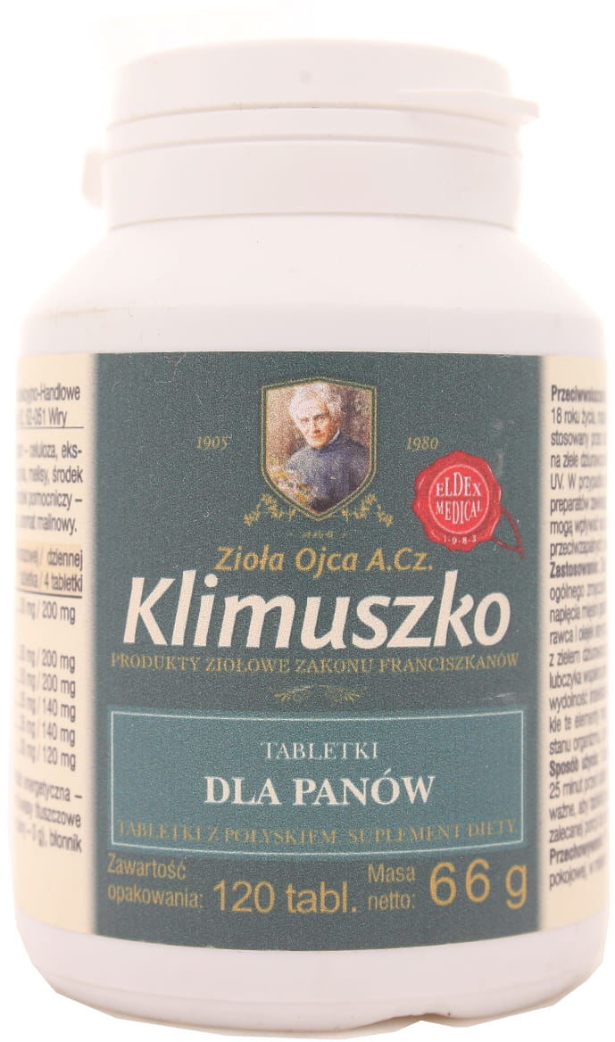 Klimuszko tabletki dla panów - Eldex - 120 tabletek