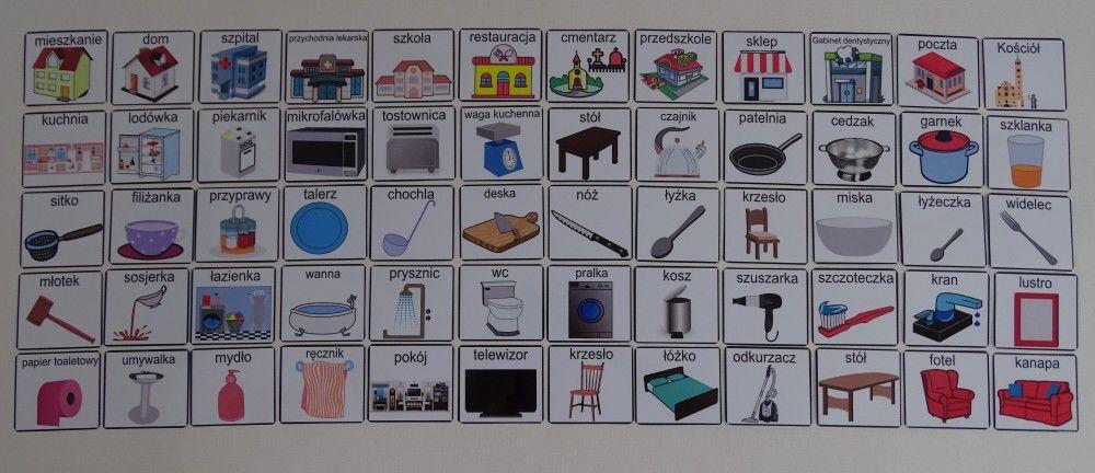 Budynki / Pomieszczenia domowe / Akcesoria - piktogramy