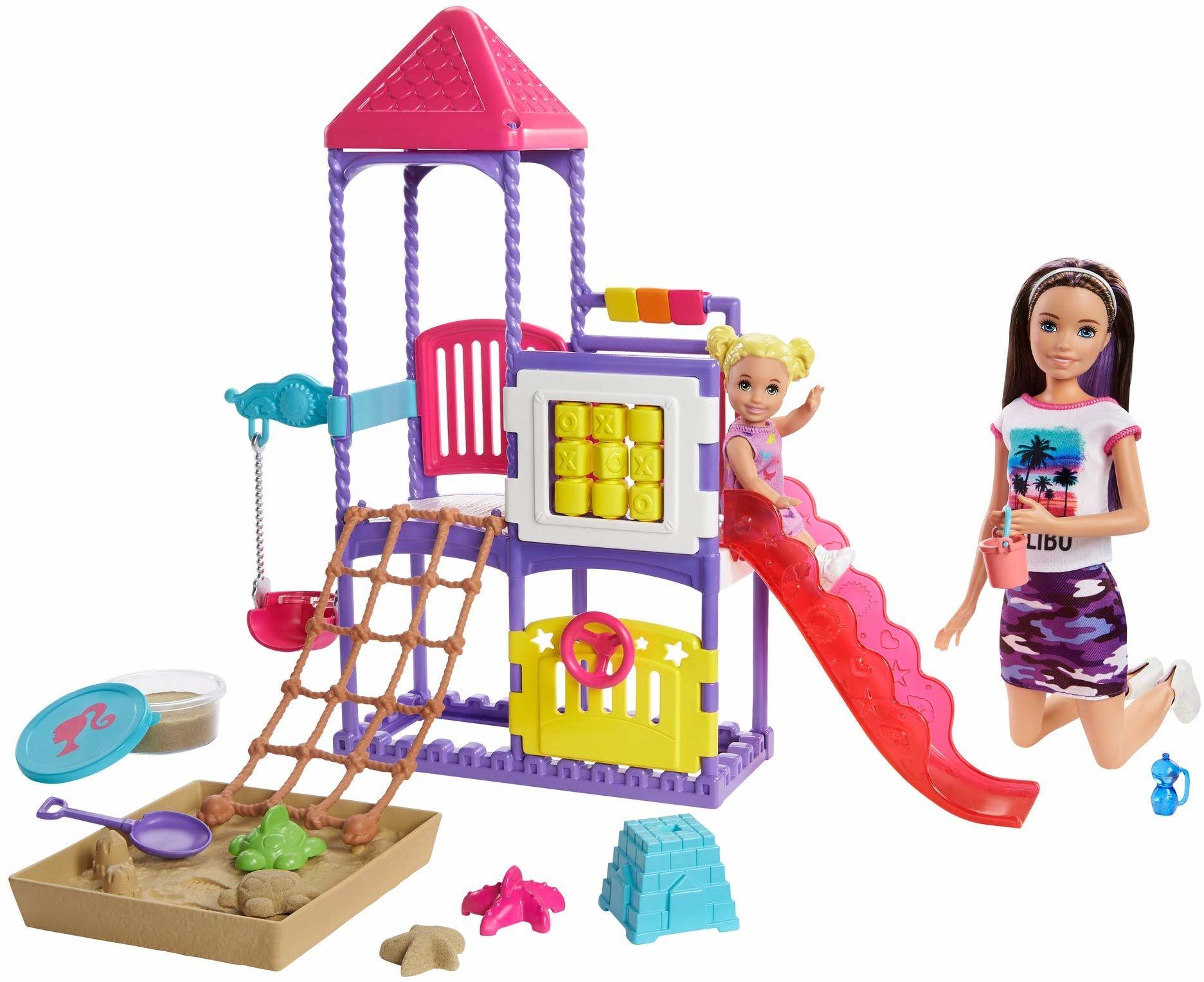Barbie GHV89 Skipper Babysitters Inc Climb ''n Explore lalki i zestaw do zabawy