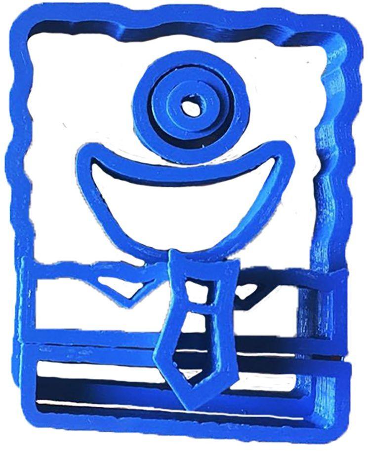 Spongebob główka gąbkowa cuticuter nóż do masy cukrowej, niebieska, 8 x 7 x 1,5 cm
