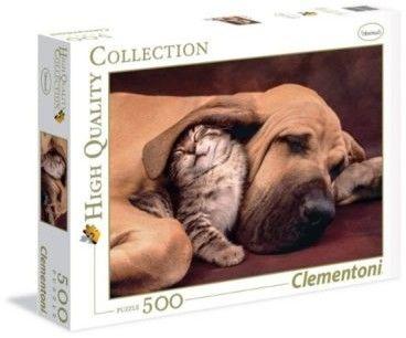 Clementoni -PUZZLE 500EL CLM 35020 FOTOTECA PUPPIES PUD 54484-uniw